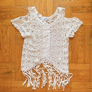 Knitted hippie blouse